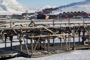 Mechanisms of old system to transport coal in Longyearbyen, Spitsbergen
