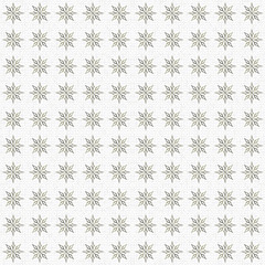 Golden snowy pattern. Seamless golden stars ornament against the snow backdrop. Made by means of openclipart.org elements.