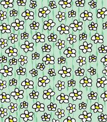 daisies pattern background