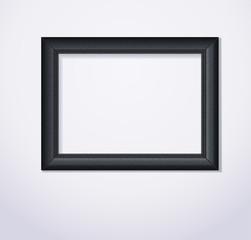 Stylish black photoframe. Vector illustration