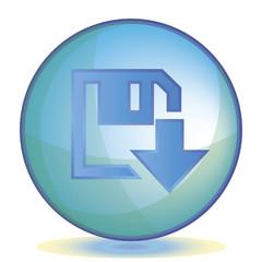 Icon Download color of aqua