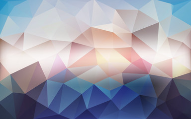 Arctic mosaic abstract background - cool polygonal illustration