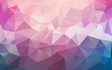 Arctic pink mosaic abstract background - cool polygonal illustration