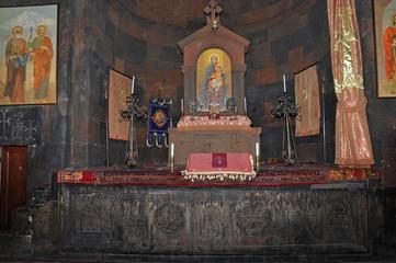 The decoration of the church of Khor Virap, Armenia