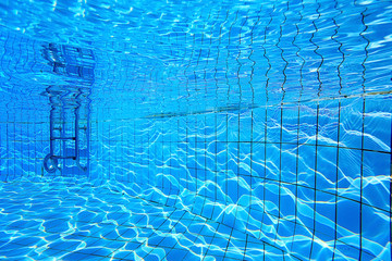 underwater in a swimming pool