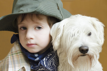 Kid with dog