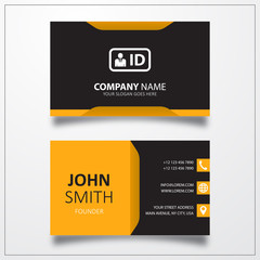 ID card icon. Business card template