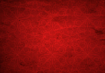 Conceptual red old paper background, vintage texture pattern