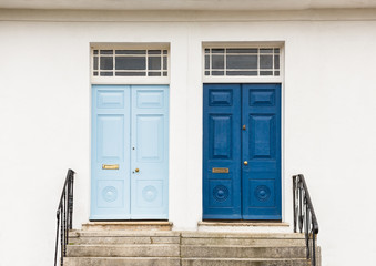Two Georgian Style front, entrance, doors Wall mural