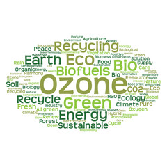 Conceptual ecology word cloud isolated