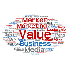 Conceptual business marketing word cloud