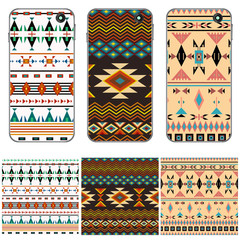 Cover design for the phone, samples seamless patterns