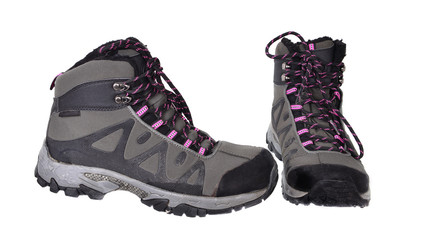 A pair of winter  hiking boots