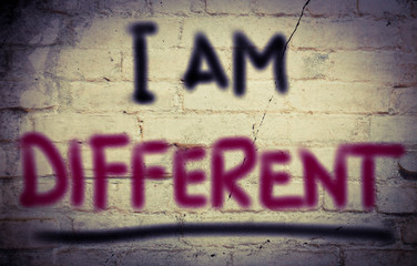 I Am Different Concept