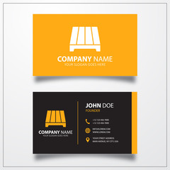 Pallet icon. Business card template