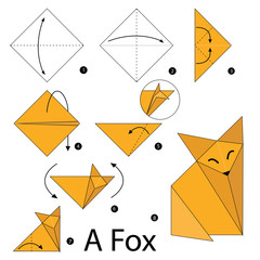 Step By Instructions How To Make Origami A Fox