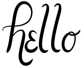 Hello Script Typography Vector