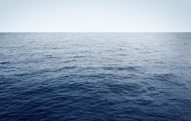 Poster Mer / Ocean Blue sea minimal