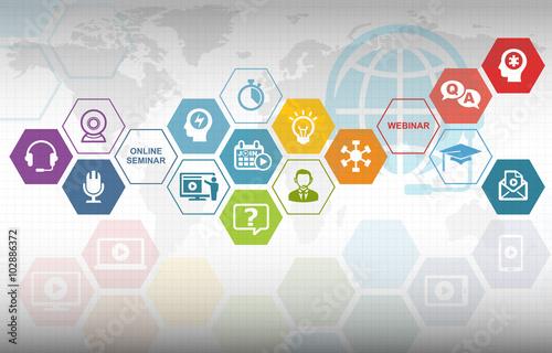 """Webinar Training Online Education Background"" Stock Photo"