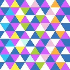 triangle shape multicolor pattern background