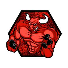 Red bullBodybuilder