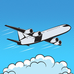 aircraft retro style pop art air