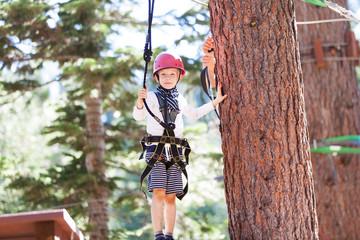kid at treetop park