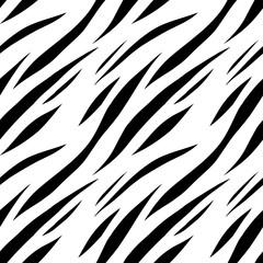 Animal abstract print monochrome seamless pattern