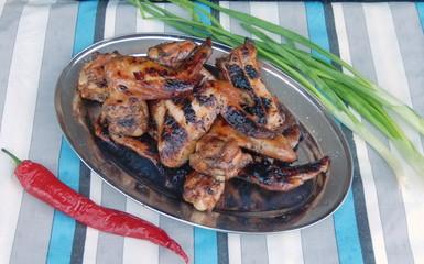 Куриные крылья гриль.