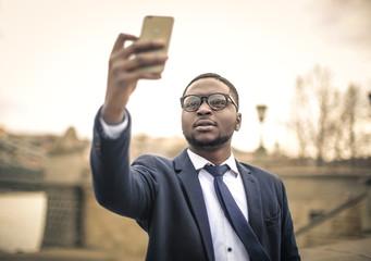 Man doing a selfie