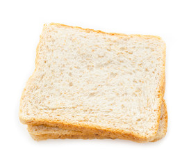 Fresh bread wheat slices.