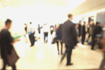 Blur of business Conference in the conference hall.
