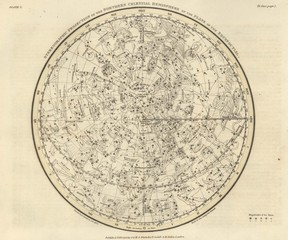 Engraving astronomical illustration