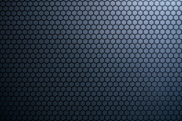 Blue honeycomb metal background