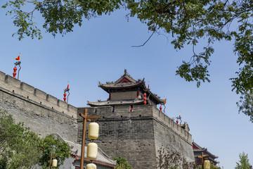 Keuken foto achterwand Xian ancient tower at dusk in xian city wall ,China