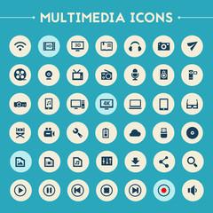 Big Multimedia icon set