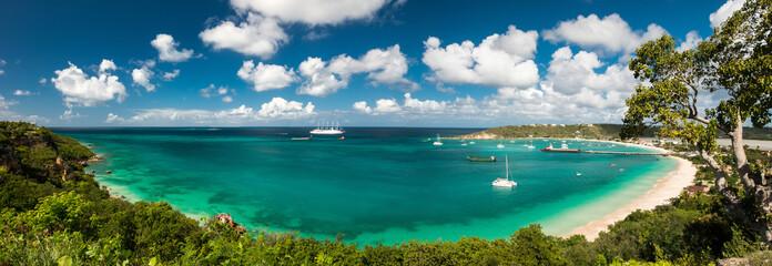 Sandy ground, Anguilla island, Caribbean sea Fotomurales
