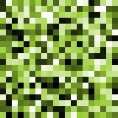 Abstract green pixel background