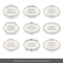 Vintage oval frames set.
