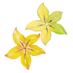 Starfruit or carambola