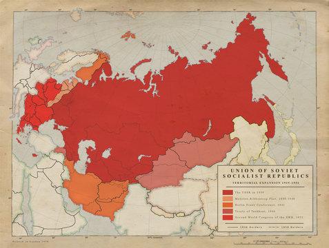 USSR vintage map