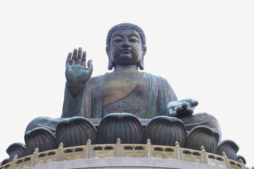 NGONG PING, HONGKONG - DEC08,2015: Tian Tan Buddha - The worlds's tallest bronze Buddha in Lantau Island, Hong Kong