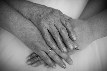 hands of different family generation