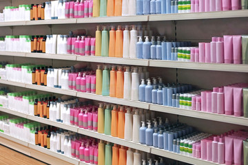 Toiletries retail shelves