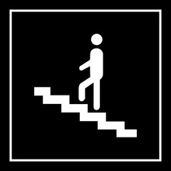 Man on the stairs symbol Vector EPS10, Great for any use.