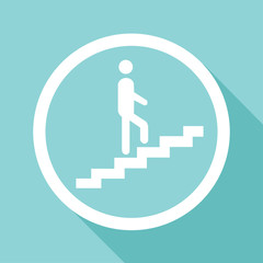 Man walks up the stairs Vector EPS10, Great for any use.