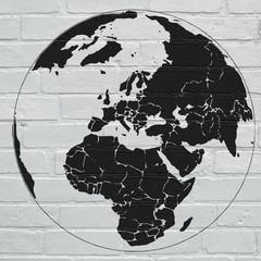 Planisphère street art