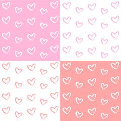Pastel pattern with heart Vector EPS10, Great for any use.