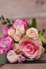 bouquet of roses close-up