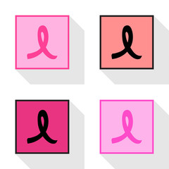 Breast cancer ribbon Icon EPS10, Great for any use.